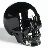 "2.5"" Black Obsidian Carved Crystal Skull, Realistic"