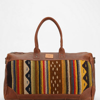 Will Leather Goods Oaxacan Duffel Bag- Brown Multi One