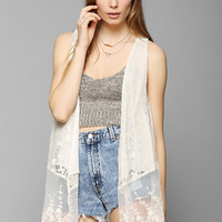 Band Of Gypsies Lacy Vest - Urban Outfitters