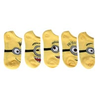 Despicable Me 2 Minion No-Show Socks 5 Pair