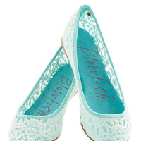 Befitting Beauty Flat in Aqua | Mod Retro Vintage Flats | ModCloth.com