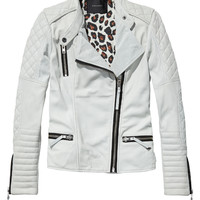 Leather biker jacket - Scotch & Soda