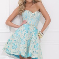 Lace Cocktail Dress by Tony Bowls Shorts