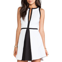 BB Dakota Derry Colorblock Palio Linen Dress in Optic White & Black from REVOLVEclothing.com