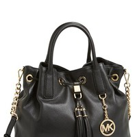 MICHAEL Michael Kors 'Large' Leather Drawstring Satchel | Nordstrom