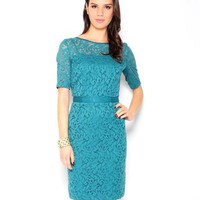 Danny & Nicole Lace 3/4 Sleeve Dress