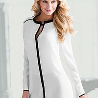 Off White & Black (OWBK) Contrasted Trim Blouse