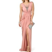 Vivien-Blush Prom Dress