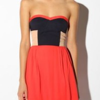 UrbanOutfitters.com > Sparkle & Fade Colorblock Strapless Dress