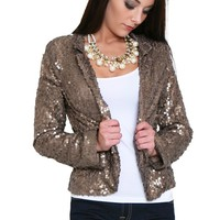 Glamour Becomes Her Sequin Blazer
