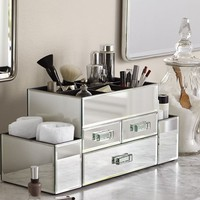 Mirrored Make Up Storage