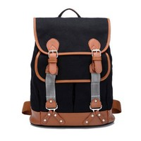 Large Canvas Backpack Fashion Travel Book Computer Bag