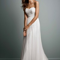 Swiss Dot Tulle Empire Waist Soft Wedding Gown - David's Bridal