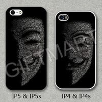 Please Choose Case Model, iPhone 4 Case, iPhone 4S Case, iPhone 5 Case, iPhone 5S Case, Cover for iphone, V for Vendetta