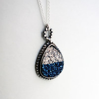 Two Toned Drusy Pendant