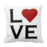 Love Red Heart Pillow