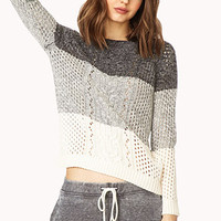 Colorblocked Cable Knit Sweater | FOREVER21 - 2000070719