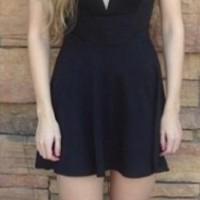 Black Sweetheart Skater Dress