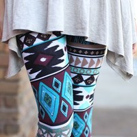 Aztec Royalty Leggings - Modern Vintage Boutique
