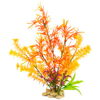 Sporn Orange Aquarium Plants with Rock Base