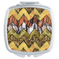 Chevron Safari Mirror