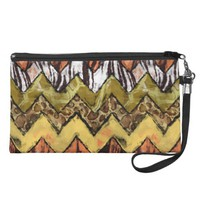 Chevron Safari Wristlet