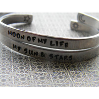 My sun and stars moon of my life pair of bracelets