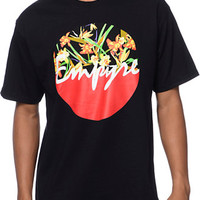 Empyre Tropical Emisphere Black & Tropical Print Tee Shirt