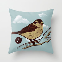 Sounds of nature Throw Pillow by Ivan Rodero