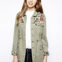 Bellfield Festival Parka With Tapestry Trim