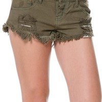 ONE TEASPOON WILD WEST TRASHWHORES DENIM SHORT