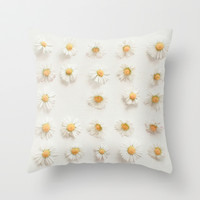 Daisy Collection Throw Pillow by Cassia Beck
