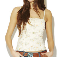 Crochet Trim Bustier Tank | Wet Seal