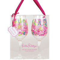 Acrylic Wine Glasses Set - Lilly Pulitzer