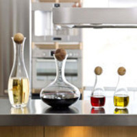 Sagaform Oil &amp; Vinegar Bottles with Oak Stopper by: Sagaform -