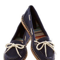 All About Annapolis Shoe in Navy | Mod Retro Vintage Flats | ModCloth.com
