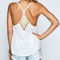 FULL TILT Daisy Womens Cage Back Tank