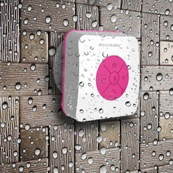 AquaAudio Cube - Mini Ultra Portable Waterproof Bluetooth Wireless Stereo Speakers with Suction Cup for Showers, Bathroom, Pool, Boat, Car, Beach, Outdoor etc.   For All Devices with Bluetooth Capability + Siri Compatible - 6 Hours Playtime / with Built-in