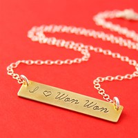 I Heart Won Won Necklace - Spiffing Jewelry