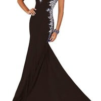 Gorgeous Bridal Women's Chiffon Rhinestone Prom Long Dress