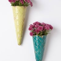 Sugar Cone Wall Planter