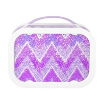 sparkly pink chevron lunch box