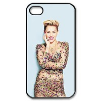 Simple Joy Phone Case, Miley Cyrus Hard Plastic Back Cover Case for iphone 4, 4S