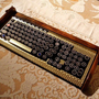 Keyboard Mouse Combo Antique looking Victorian by woodguy32