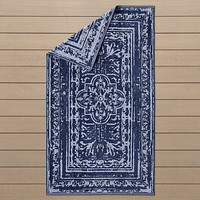 Corsica Tile Beach Towel Royal Blue