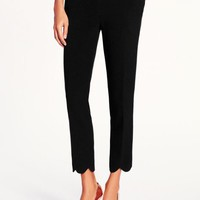scalloped hem jackie capri