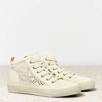 AEO CROCHETED HI-TOP SNEAKER