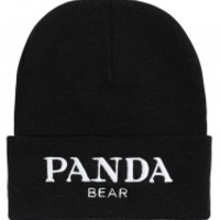 ALEX AND CHLOE / PANDA BEAR - BEANIE - BLACK W/WHITE : ALEX & CHLOE - Brian Lichtenberg, Homies, Wildfox Couture, UNIF, Homies South Central at ALEX & CHLOE