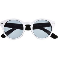 White round retro sunglasses