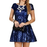 Jazzy- Cobalt Short Prom Dress